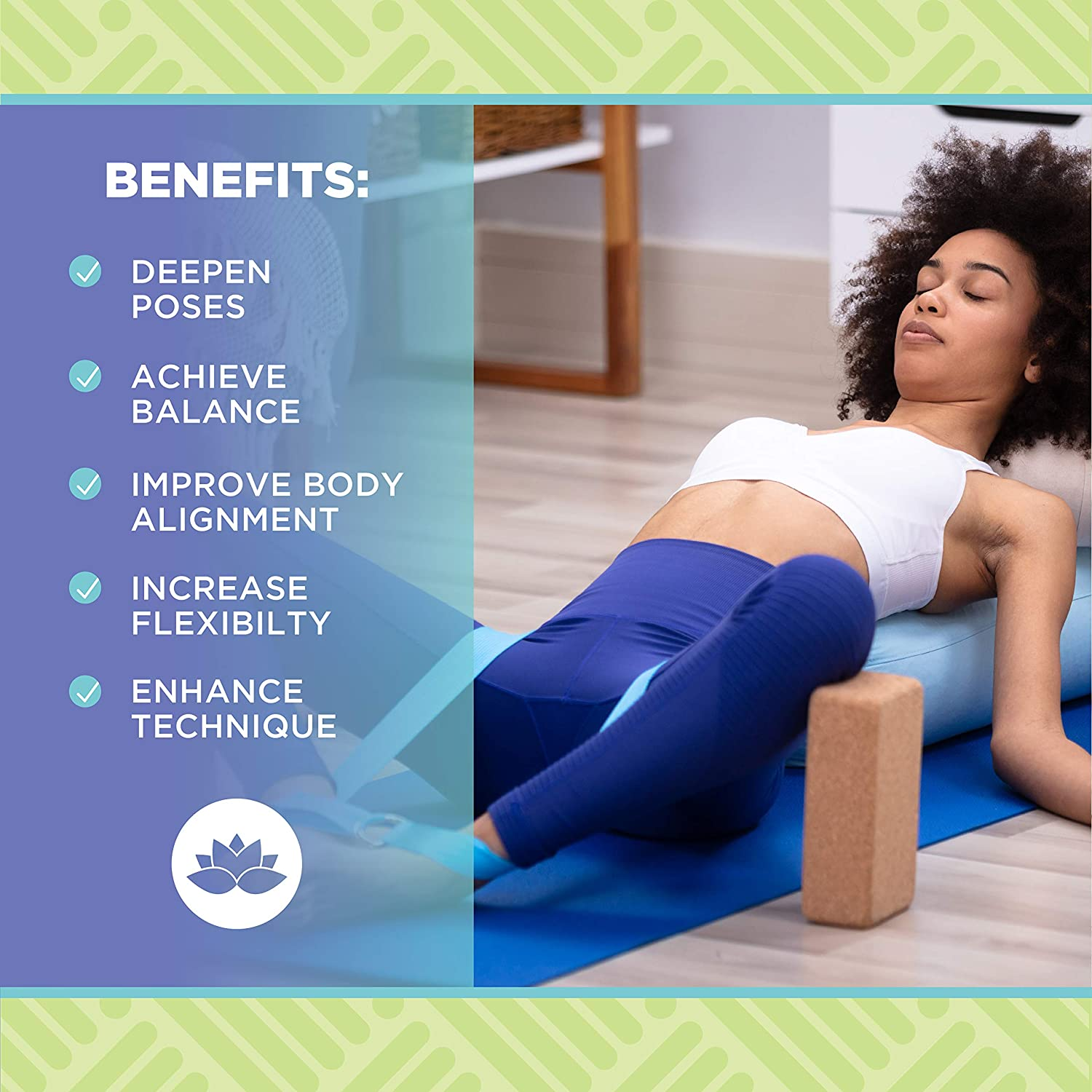 100/% Natural Cork or Foam Made from Eco Friendly Materials Improves Stability /& Alignment Bean Products Yoga Blocks 2 in 2 Pack Sets or Single Blocks Non-Slip Studio Grade