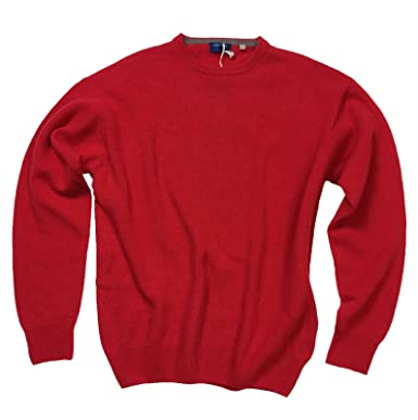 6c7f682de3 Image Unavailable. Image not available for. Color: Cinque Terre Men's Wool  Knit Long Sleeve Crew Sweater, True Red ...