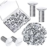 120 Pieces Wall Panel Screws, 5/16 Inch Long 6-32 Thread, Switch Cover Metal Screws Oval Head Replacement Socket Screws…