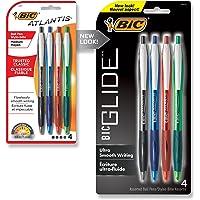 BIC Atlantis Original Retractable Ballpoint Pen Medium Point (1.0 mm) - Assorted Colours, Pack of 4 Pens