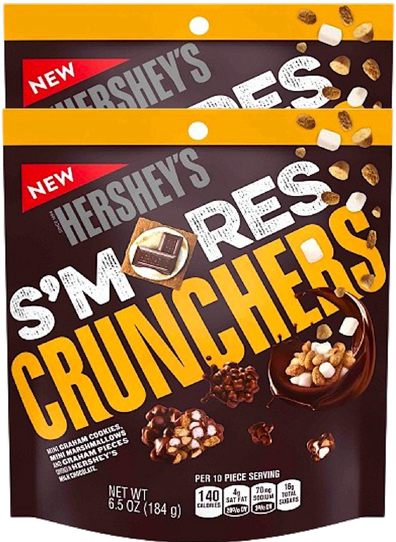 NEW Hersheys Smores Crunchers Mini Graham Cookies Mini Marshmallows Covered In Hershey's Chocolate Heaven- 6.5oz (2)