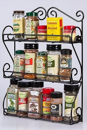... estantes Organizador para vitaminas, esmalte de uñas, Craft Supplies rack de desplazamiento, de metal negro mano resistente de hierro: Amazon.es: Hogar