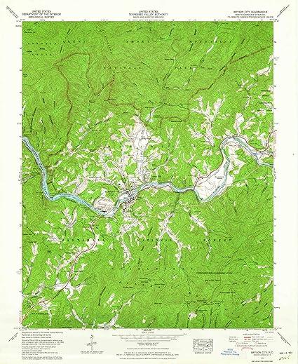 Bryson Nc Map.Amazon Com Yellowmaps Bryson City Nc Topo Map 1 24000 Scale 7 5