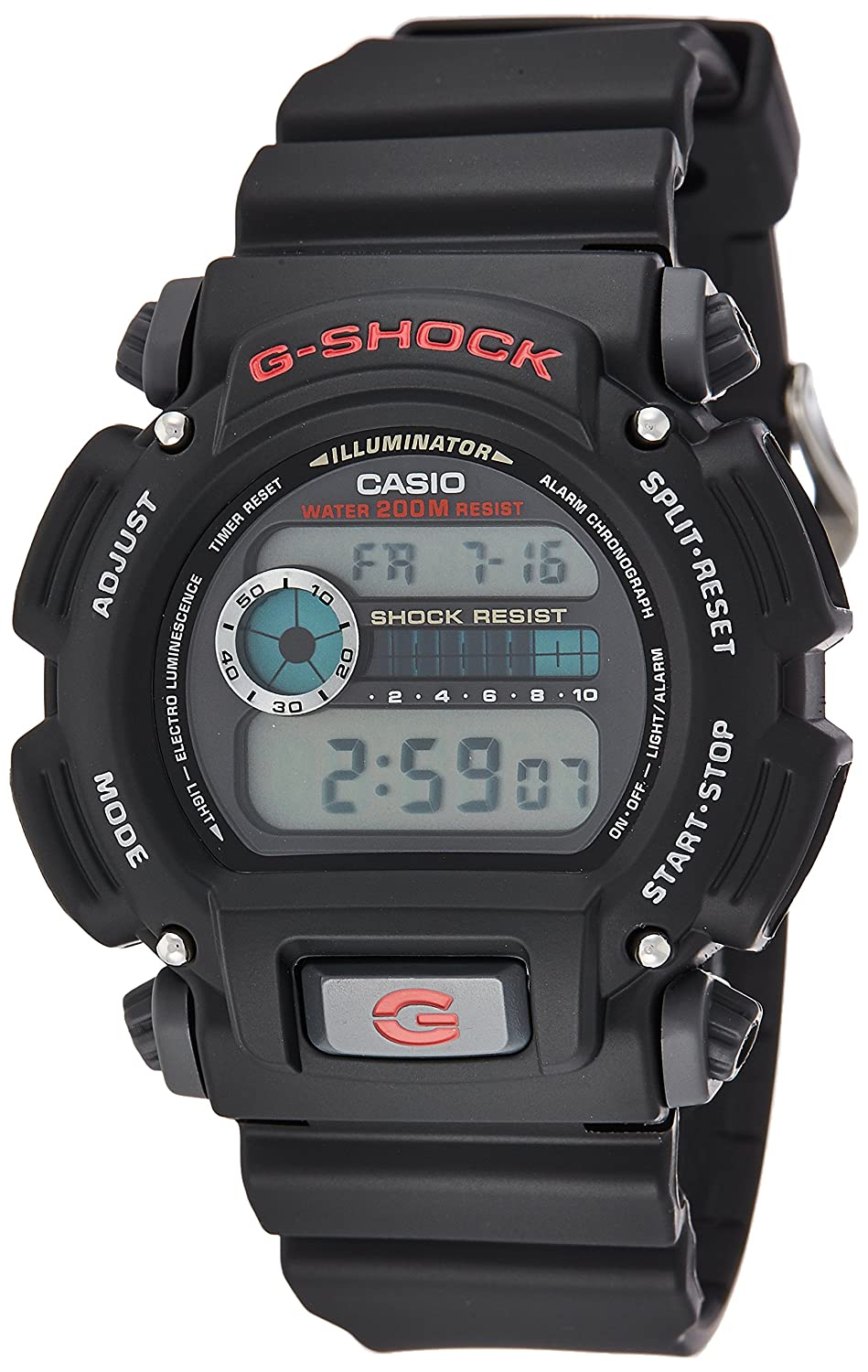 Amazon.com  Casio Men s G-Shock DW9052-1V Shock Resistant Black Resin Sport  Watch  Classic  Watches 77218055f9