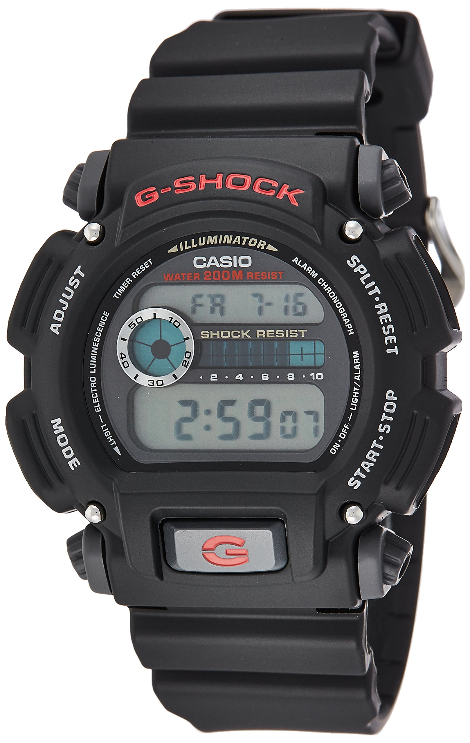 Casio Men's G-shock DW9052-1V Shock Resistant Black Resin Sport Watch