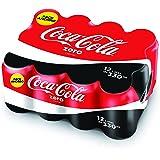 Refresco de Cola Coca Cola Zero lata pack 12x33 cl