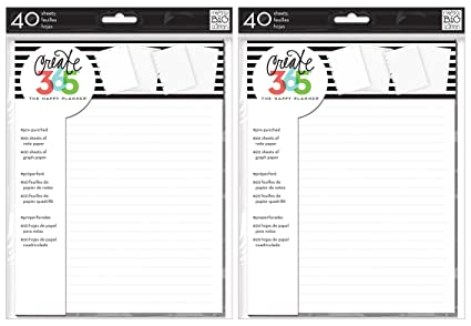 2 pack me my big ideas create 365 the happy planner note and