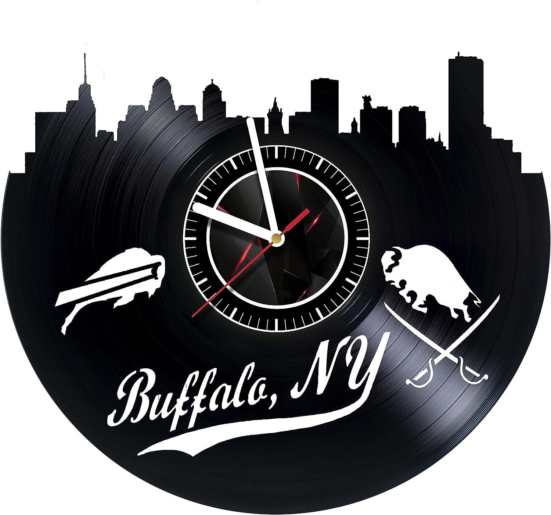 Amazon.com: Buffalo NY Skyline Vinyl Wall Clock Great Gift for Men