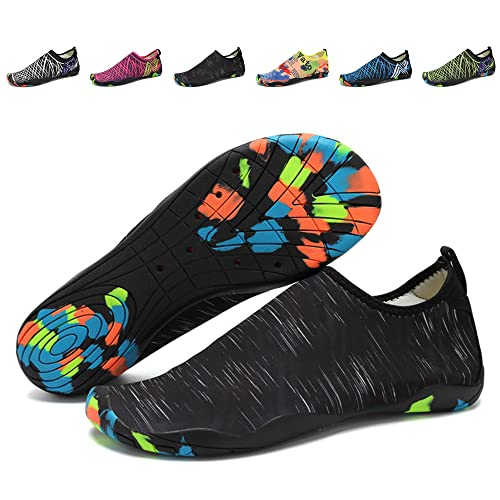 Men Women Water Shoes Quick-Dry Swim Shoes Lightweight Beach Aqua Socks With Drainage Holes