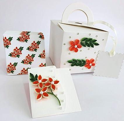 Sandali Creations Christmas Gift Bag Blank Note Card With Bag