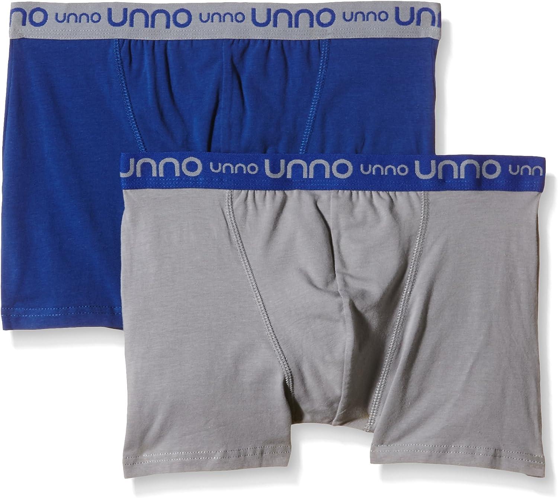 UNNO - Boxer de algodón elástico para hombre, multicolor (gris ...