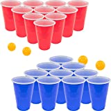 Fairly Odd Novelties Beer Pong Set, Red Cups and Ping Pong Balls.