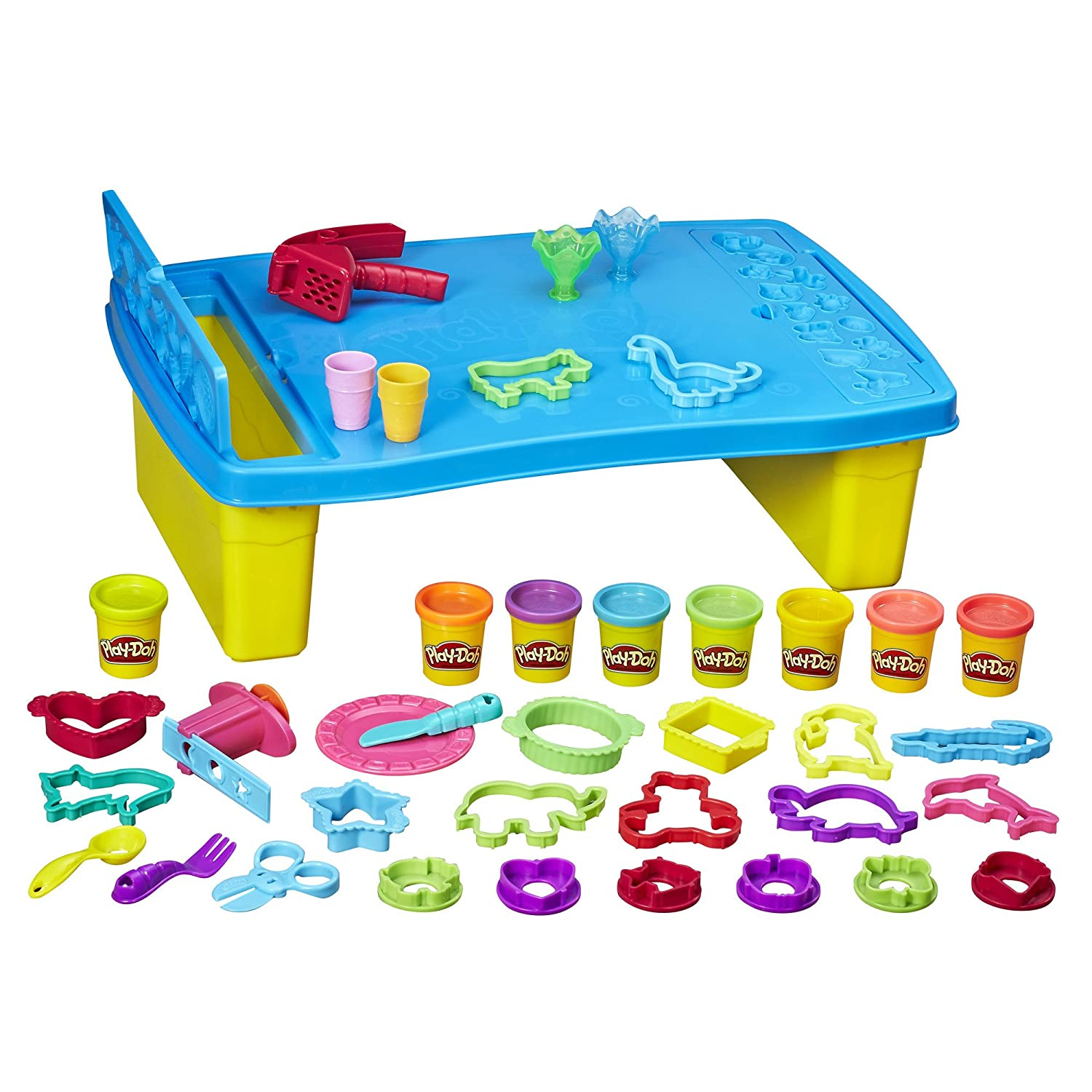 Play-Doh Play 'n Store Table, Arts & Crafts, Activity Table, Ages 3 and up (Amazon Exclusive) Hasbro - Import B9023