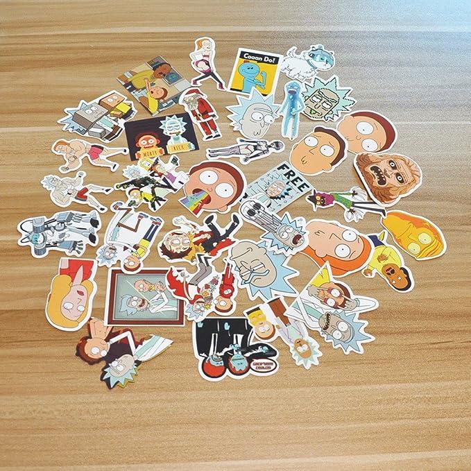 22 opinioni per SHINE-CO 35pcs Rick Adesivo PVC Impermeabile Sticker per Auto, Moto, Bicicletta,