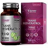 Trans Resveratrol 100mg van Japanse duizendknoop Extract | 90 Veganistische Capsules | Hoog Antioxidantpotentieel | Natuurlijk Stilbenoïde Polyfenol Supplement — Veganistisch, Glutenvrij, GMO-vrij