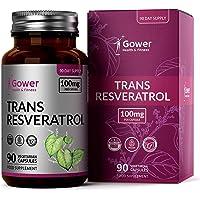 Trans Resveratrol 100mg van Japanse duizendknoop Extract | 90 Veganistische Capsules | Hoog Antioxidantpotentieel…