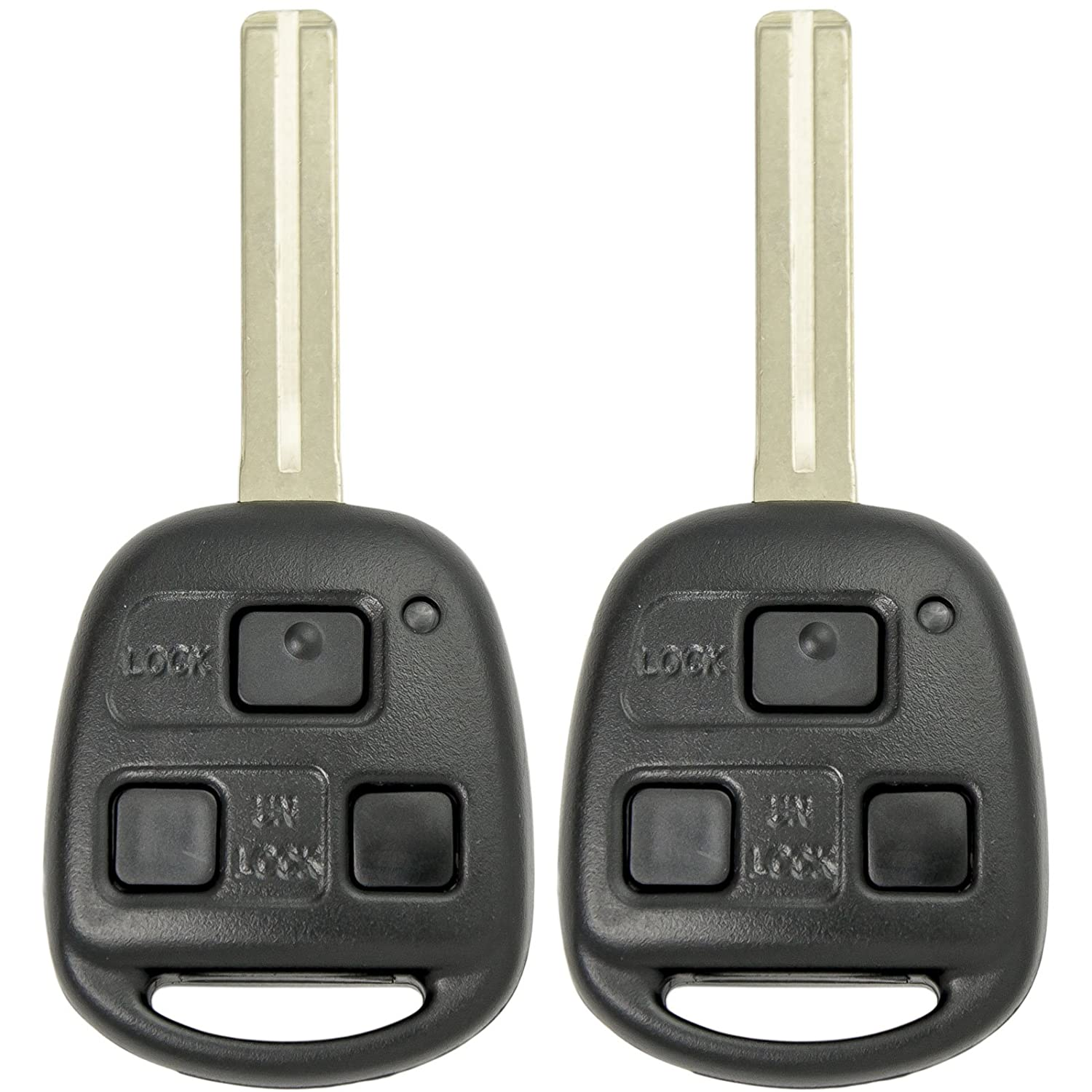 Keyless2Go New Uncut Keyless Remote Combo Flip Key Fob for Vehicles That Use FCC HYQ12BBT (2 Pack)