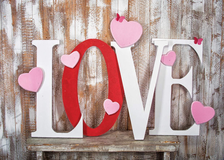 LYWYGG 7x5FT Jour de la Photographie de Saint Valentin Toiles de Fond Plume Amour Toile de Fond Saint Valentin Fond Bleu Fonc/é Sky3ds Photographie Fond Studio CP-114