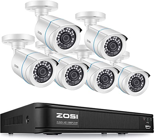ZOSI 1080p Home Security Camera System Outdoor Indoor