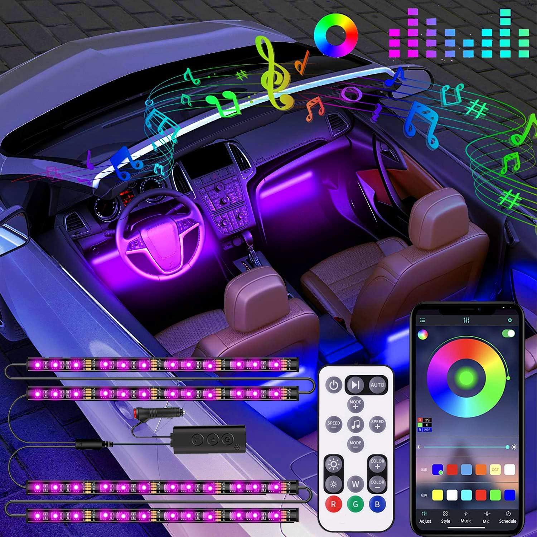EJ's SUPER CAR 2-in-1 Design 4pcs RGB Interior Car Lights $13.43 Coupon