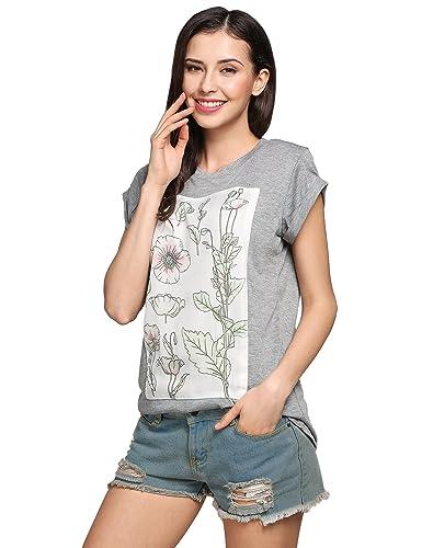 Befied Mujeres Camisetas de la Manga Corta Y Cuello Redondo de Verano, Blusa Casual con Diseño Básic...