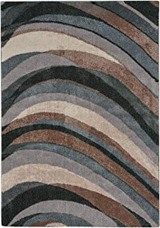 """product image for Capel Gravel-Wave Kyanite 7' 10"""" x 10' 10"""" Rectangle Machine Woven Rug"""