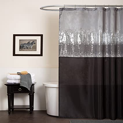 Lush Decor Night Sky Shower Curtain 72 Inch By Black
