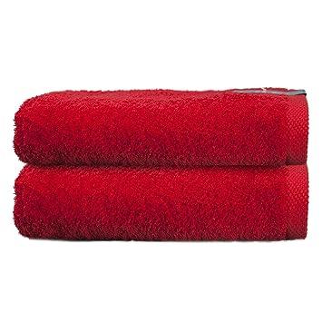 ADP Home - Pack Toallas 550 Grms 2 Piezas (Toalla Ducha/Baño) 100% Algodón Peinado Color - Rojo Talla - 70 x 140 cm: Amazon.es: Hogar