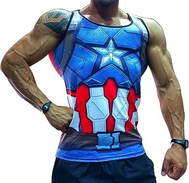 Camiseta Manga Corta Compresion Hombre Fitness para Correr ...
