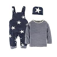 BIG ELEPHANT Camicia a maniche lunghe per neonato da 3 pezzi Set di abbigliamento con cappello H92