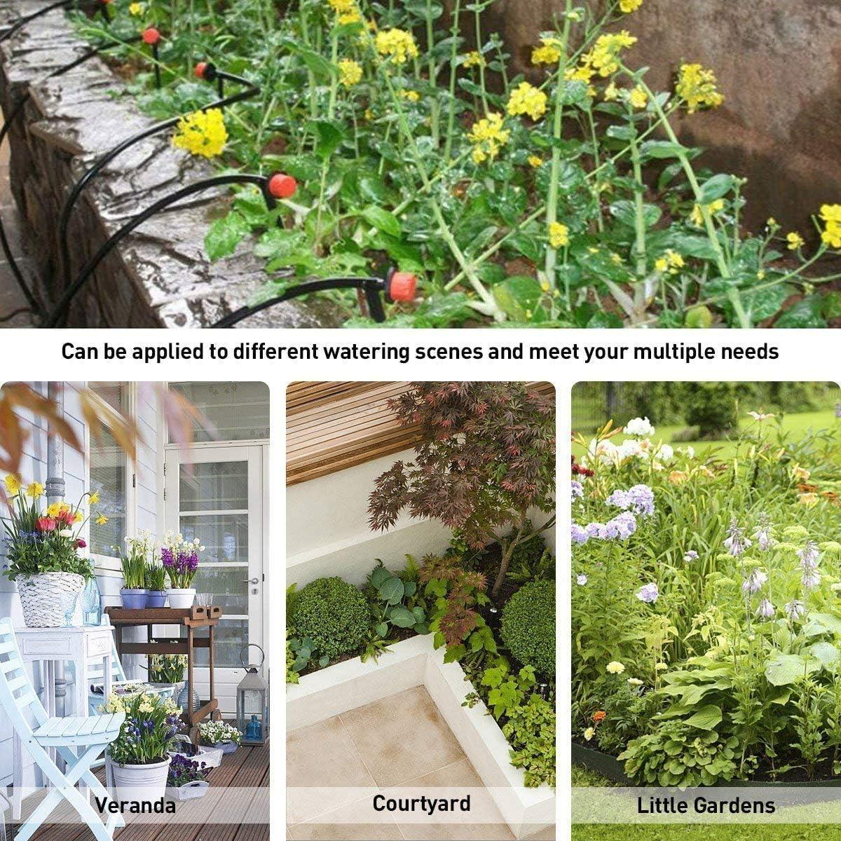 30 m Poweka sistema di irrigazione a goccia uso per serre giardino con micro campi di fiori da interno allaria aperta prato Kit di irrigazione a goccia sistema di irrigazione da giardino