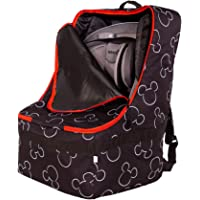 J.L. Childress Disney Baby Ultimate Backpack Padded Car Seat Travel Bag, Black