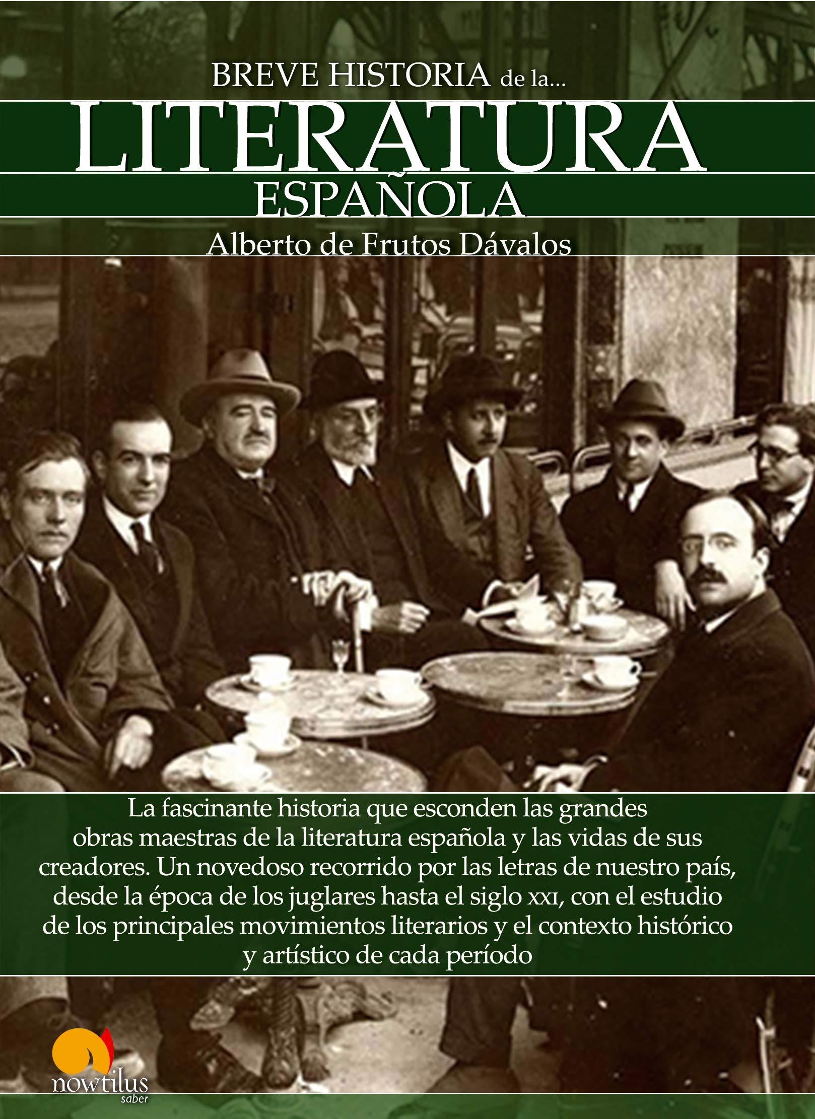 Breve historia de la Literatura española: Versión sin solapas: Amazon.es: Dávalos, Alberto de Frutos: Libros
