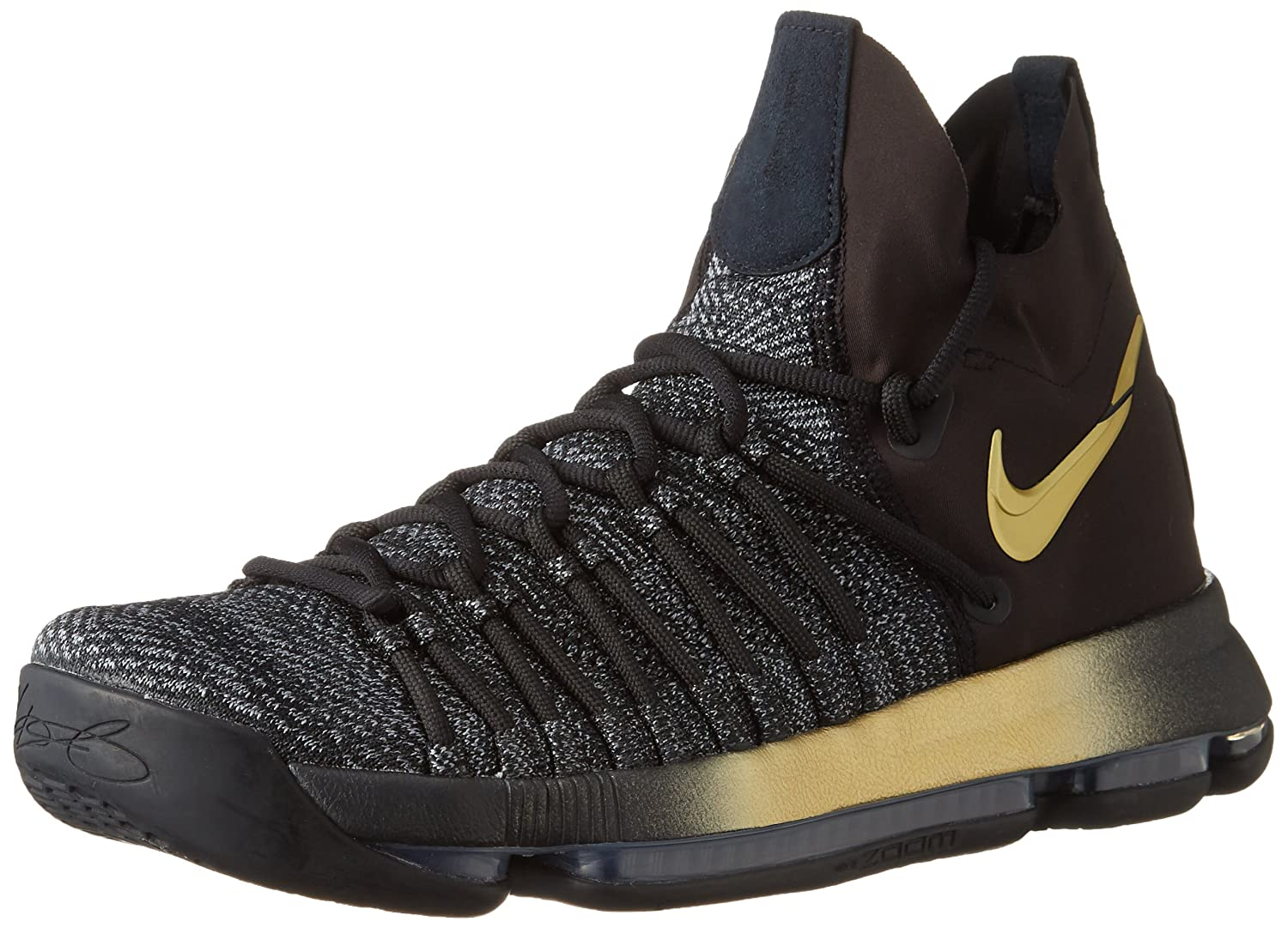 new product 39ac7 05514 Nike Men s Zoom KD9 Elite EP, Black Tour Yellow-Blue Fury, 10.5 M US  Buy  Online at Low Prices in India - Amazon.in