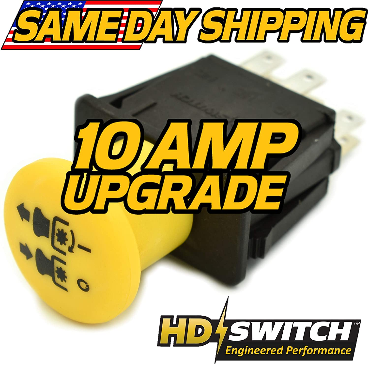 Cub Cadet Tractor PTO Switch - GT1554 GT2554 - LT1018 LT1022 LT1024 LT1042 LT1045 LT1046 – SLT1550 SLT1554 – New Improved Design – HD Switch