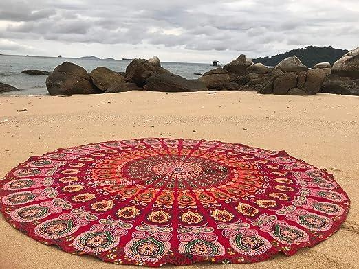 Beach Tapestry Round Mat Indian Blanket Quick Drying Picnic Hipple Towel Mandala