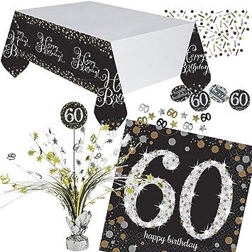 Neu 46 Tlg Tischdeko Set Sparkling Celebration Fur Den 60