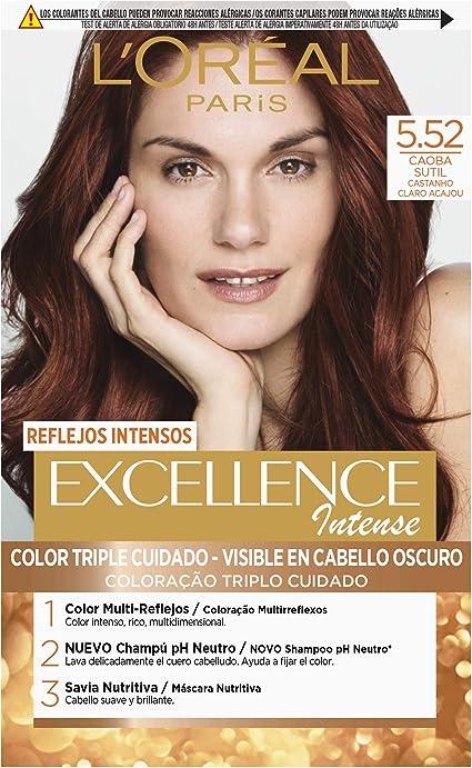 LOréal Paris Excellence Intense Coloración, Tono: 5,52 Caoba Sutil