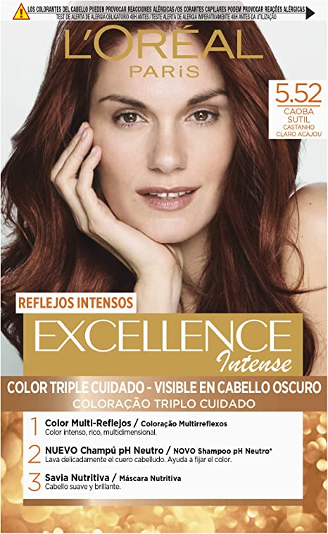 LOréal Paris Excellence Intense Coloración, Tono: 5,52 Caoba ...
