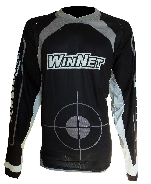 WinNet completo tuta per moto da cross o motard bianco nero grigio maglia e pantaloni 2XL