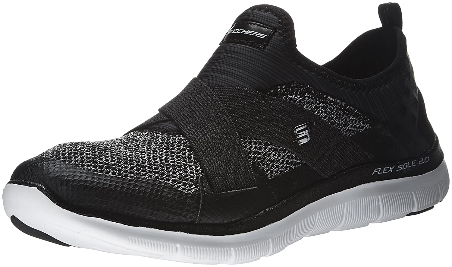 Skechers Sneaker Sport Women's Flex Appeal 2.0 New Image Fashion Sneaker Skechers B01EORZMG6 7 B(M) US|Black/White 7e7c19