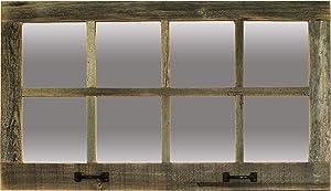 Farmhouse Windowpane Mirrors (Barnwood, 8 Pane)