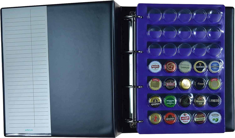PELLERS Álbum de colección 210 Tapas de champán, Cerveza, Corona, 6 Fundas, Negro, Modelo XL: Amazon.es: Hogar