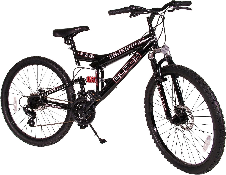 SilverFox BS26GG - Bicicleta Doble suspensión, Color Rojo: Amazon ...