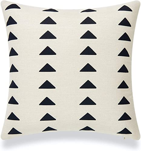 Black and White African Mud Cloth Pillow Cover 18 inch