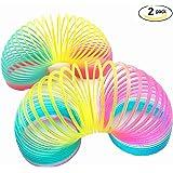 Magic Spring Rainbow Slinky Toy - 8.5 CM,2 Pack