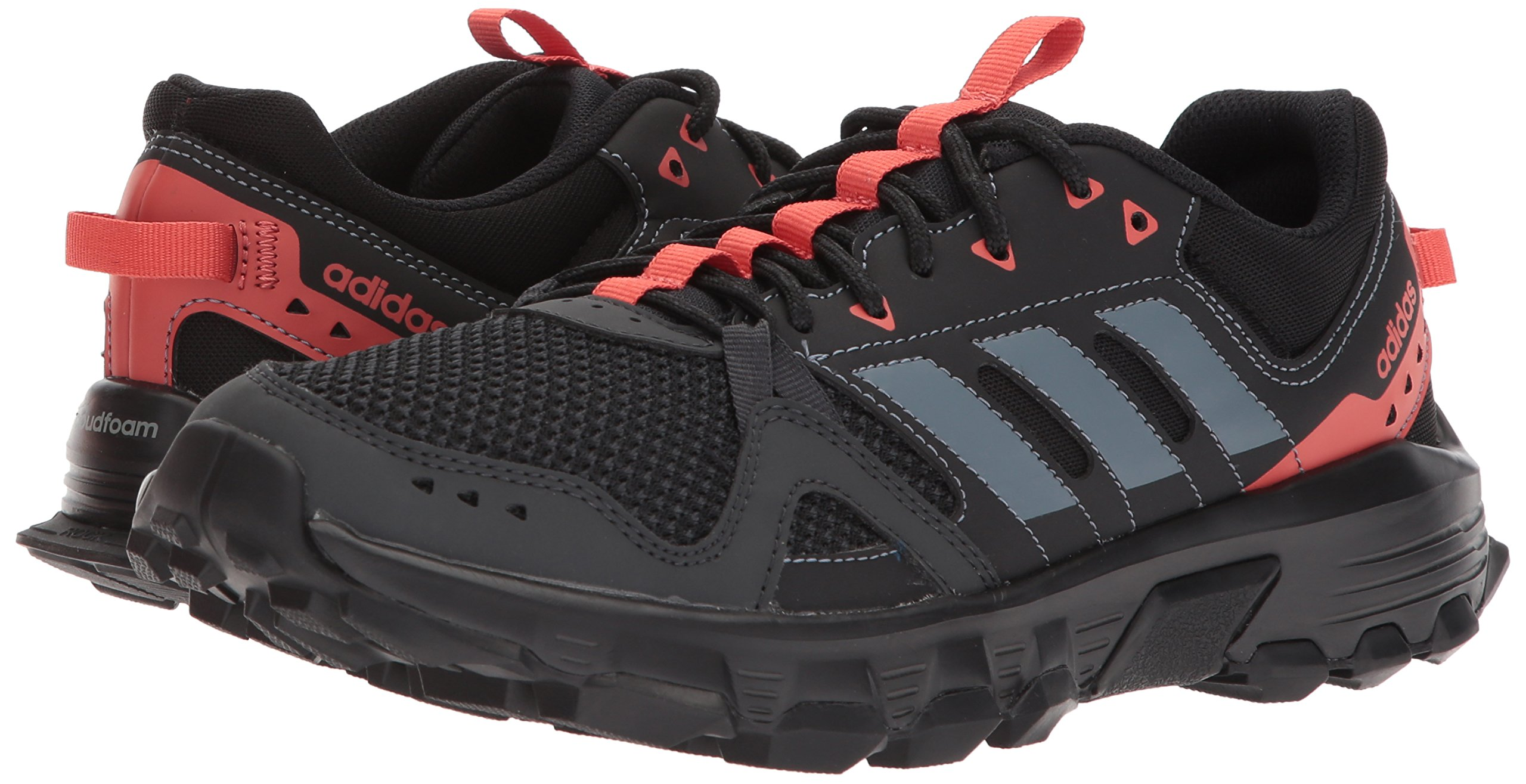 adidas Women's Rockadia w Trail Running Shoe, Carbon/Raw Steel/Trace Scarlet, 6 M US by adidas (Image #6)