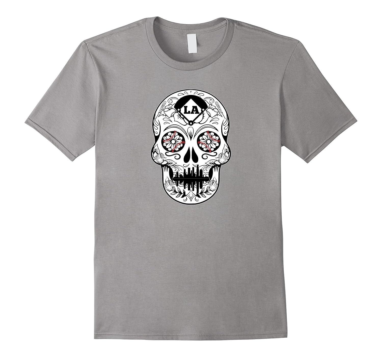 Dia De Los Muertos Sugar Skull LA Los Angeles Tee Shirt-T-Shirt