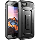 Funda para Apple iPhone 7, Carcasa para Apple iPhone 8, Supcase con protector de pantalla integrado, serie Unicorn Beetle PRO (negro/negro)