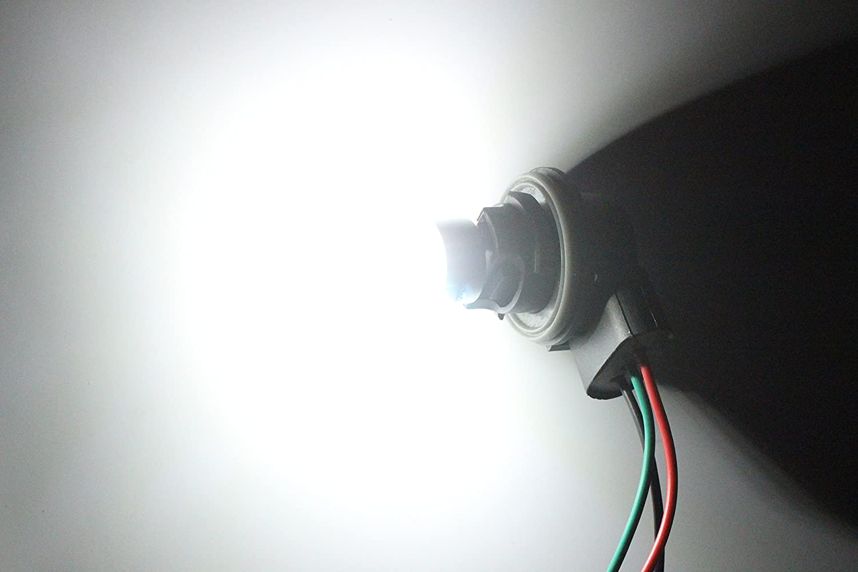 12V-DC 3014 Chipset 39 SMD 3157A Base Dimmable Remplacement pour la Queue Backup Ampoule Feu Clignotant Feux de Stationnement AMAZENAR 2-Pack 3157 3047 3057A Lumi/ère Blanche de LED